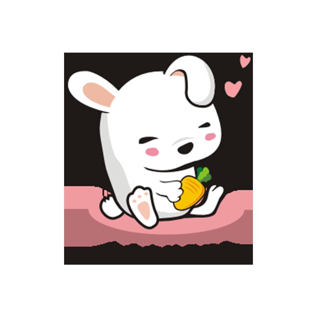 兔子凹凹 messages sticker-4