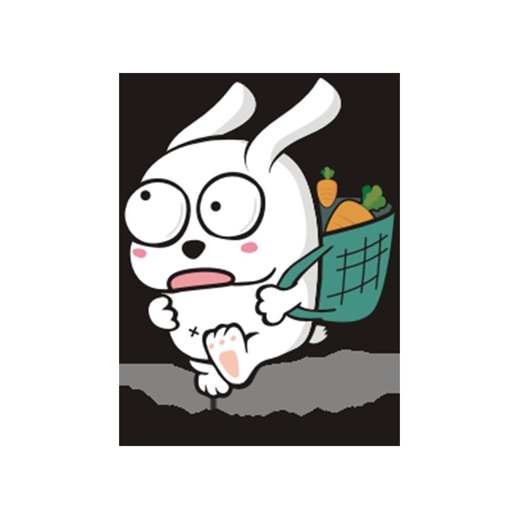 兔子凹凹 messages sticker-2