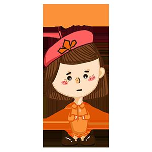 淘气Girl messages sticker-7