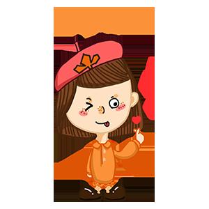 淘气Girl messages sticker-2