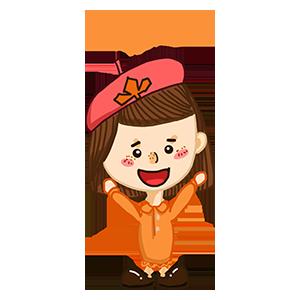 淘气Girl messages sticker-4