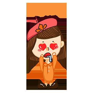 淘气Girl messages sticker-0