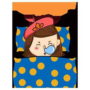 淘气Girl messages sticker-8