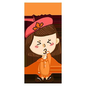 淘气Girl messages sticker-11