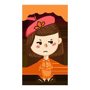 淘气Girl messages sticker-6
