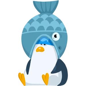羞羞哒蓝企鹅 messages sticker-5