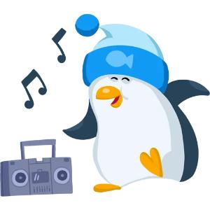 羞羞哒蓝企鹅 messages sticker-9