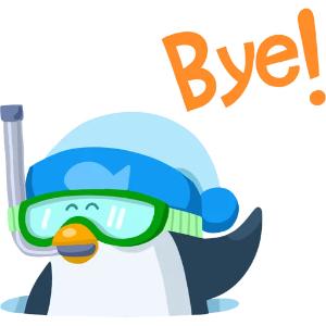 羞羞哒蓝企鹅 messages sticker-2