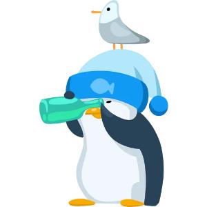 羞羞哒蓝企鹅 messages sticker-8