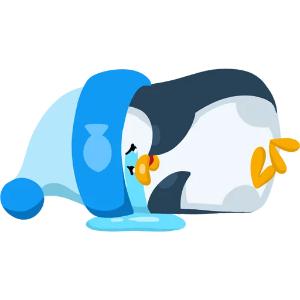 羞羞哒蓝企鹅 messages sticker-6