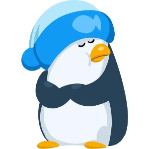 羞羞哒蓝企鹅 messages sticker-4