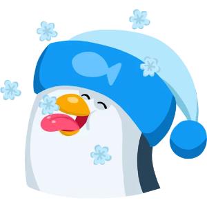 羞羞哒蓝企鹅 messages sticker-3