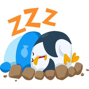 羞羞哒蓝企鹅 messages sticker-11