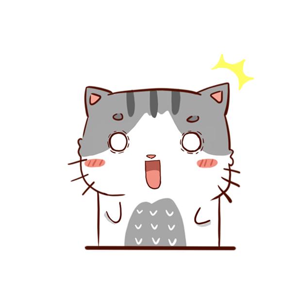 Hui Hui Cat messages sticker-0