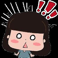 蘑菇头坏女孩 messages sticker-10