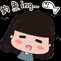 蘑菇头坏女孩 messages sticker-1