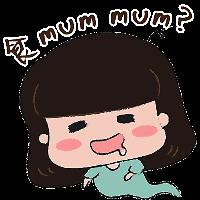 蘑菇头坏女孩 messages sticker-8