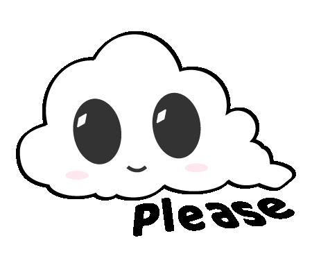 Cute Clouds messages sticker-9