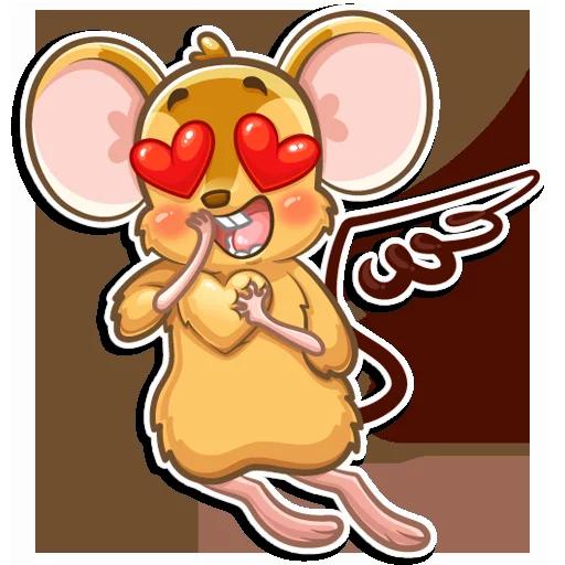 老鼠Arnold messages sticker-2
