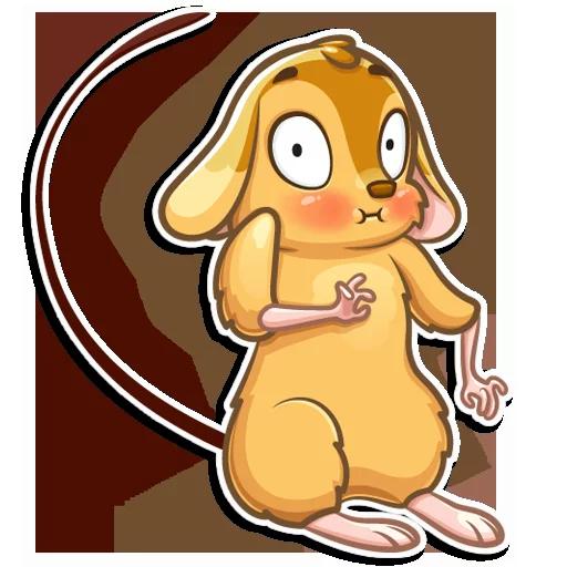 老鼠Arnold messages sticker-7