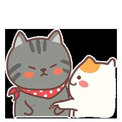 Naughty Little Cat messages sticker-1