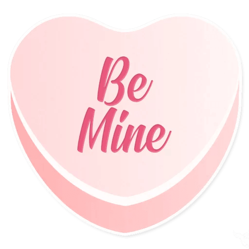 Candy Hearts Love messages sticker-3
