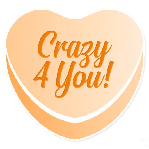 Candy Hearts Love messages sticker-7