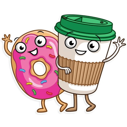 Coffee with Donut Stickers messages sticker-4