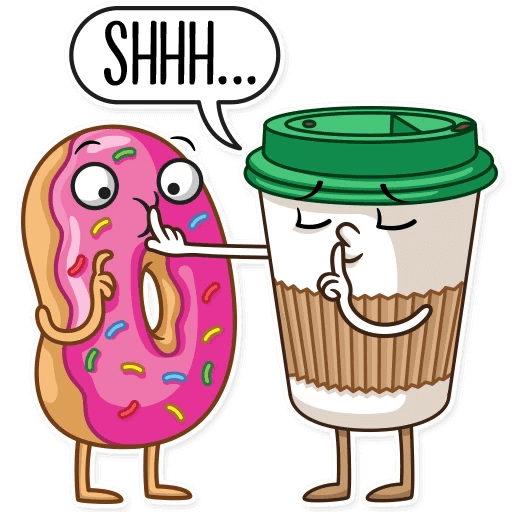 Coffee with Donut Stickers messages sticker-6