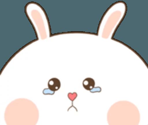 TuaGom Cute Rabbit messages sticker-1
