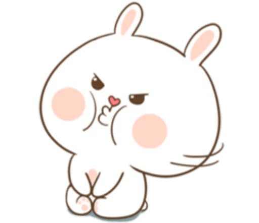 TuaGom Cute Rabbit messages sticker-9