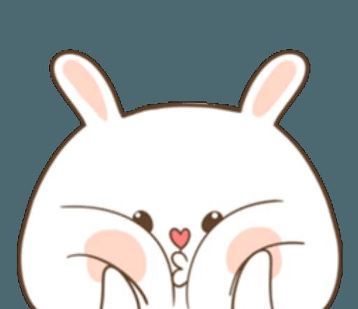 TuaGom Cute Rabbit messages sticker-8