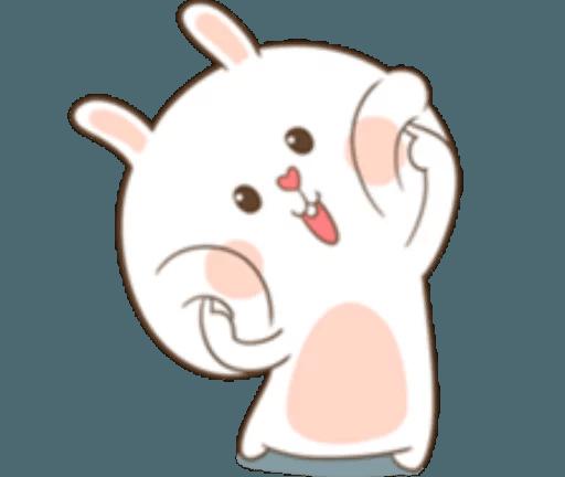 TuaGom Cute Rabbit messages sticker-0