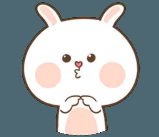 TuaGom Cute Rabbit messages sticker-3