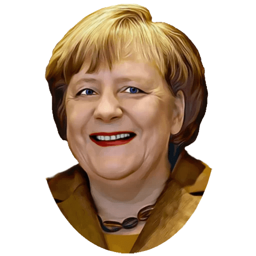 Angela Merkel Stickers Pack messages sticker-1