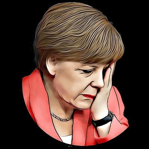 Angela Merkel Stickers Pack messages sticker-2