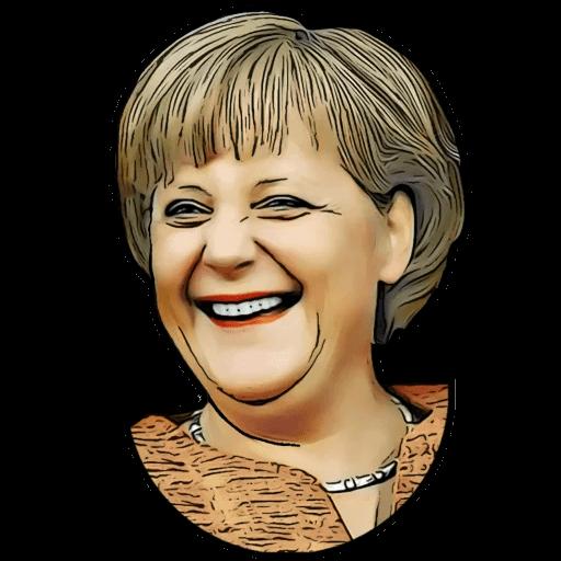 Angela Merkel Stickers Pack messages sticker-4