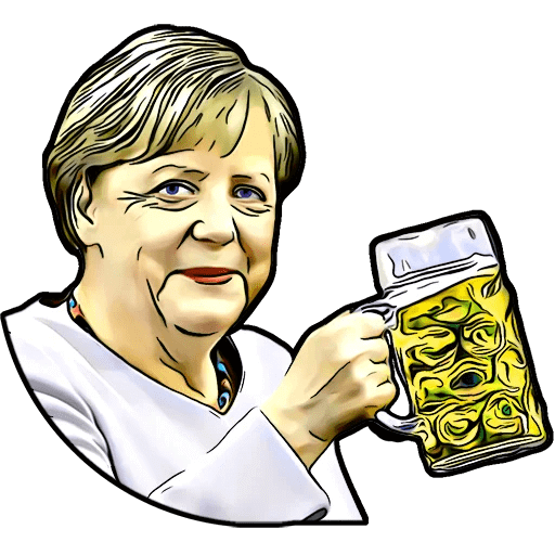 Angela Merkel Stickers Pack messages sticker-6