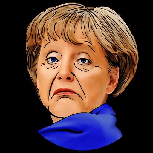 Angela Merkel Stickers Pack messages sticker-8