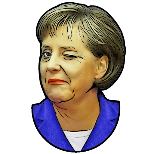 Angela Merkel Stickers Pack messages sticker-9