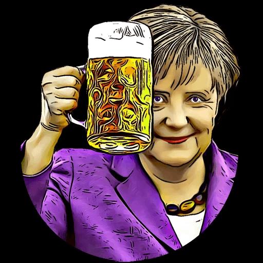Angela Merkel Stickers Pack messages sticker-3