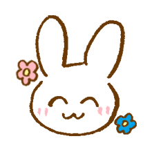 涂鸦兔子 messages sticker-1