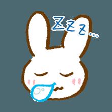 涂鸦兔子 messages sticker-4
