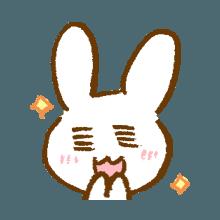 涂鸦兔子 messages sticker-5