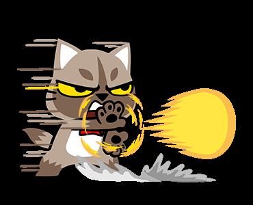 貼紙-爪抓貓的生活百态 messages sticker-1