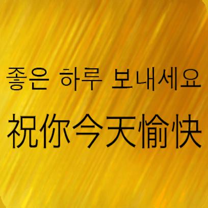 Chinese Korean messages sticker-11