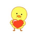 小黄鸭MOOD messages sticker-3