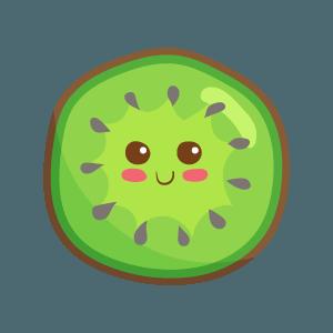 Kawaii Fruits And Vegetables messages sticker-10