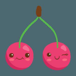 Kawaii Fruits And Vegetables messages sticker-6