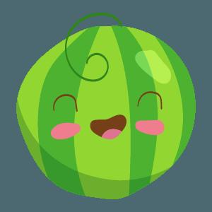 Kawaii Fruits And Vegetables messages sticker-8